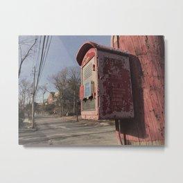 Bronx Police Box - Vintage Metal Print