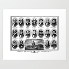 American Presidents - First Hundred Years Art Print