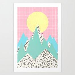 Memphis Mountains Art Print