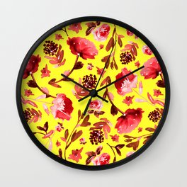 Yellow garden Wall Clock