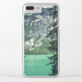 Dolomites Mountains Through Trees Clear iPhone Case