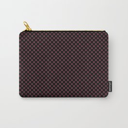 Black and Tawny Port Polka Dots Carry-All Pouch