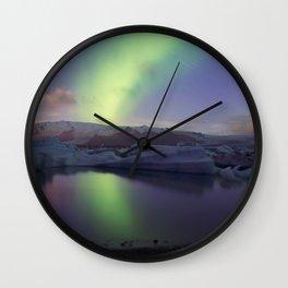 Northern Lights Iceland Wall Clock