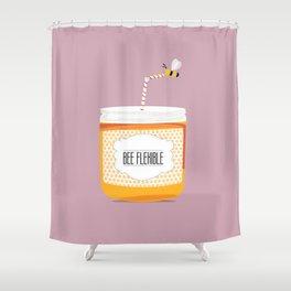 Bee flexible Shower Curtain