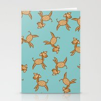 giraffes Stationery Cards featuring Giraffes! by Kashidoodles Creations
