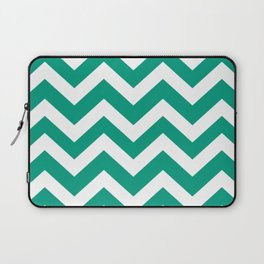 Paolo Veronese green - green color - Zigzag Chevron Pattern Laptop Sleeve