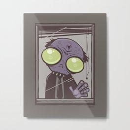 Office Zombie Metal Print
