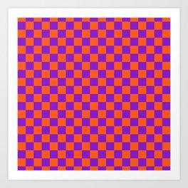 Checkered Pattern VIII Art Print