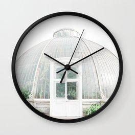 Victorian Glass House | Botanical garden London | Nature wall art | Photography print Wall Clock