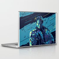 terminator Laptop & iPad Skins featuring The Terminator // Evil Villians by mergedvisible