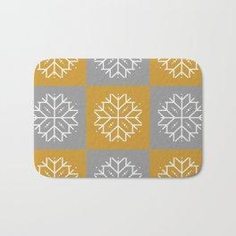 Snowflake 3x3 - Gold & Silver Bath Mat
