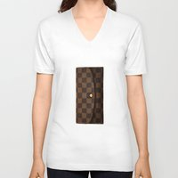 louis V-neck T-shirts featuring LOUIS by MiliarderBrown