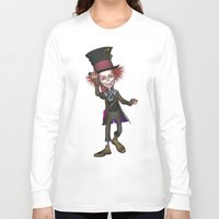 mad hatter Long Sleeve T-shirts featuring Mad Hatter by apgme