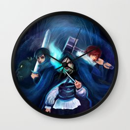 Ennara and the Fallen Druid Wall Clock