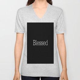 BLESSED Black & White Unisex V-Neck