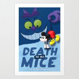 Death to all Mice Art Print