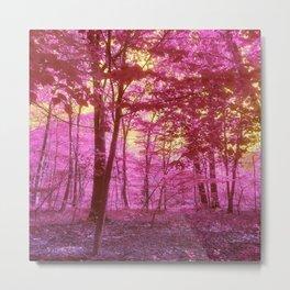 Pink Forrest Metal Print