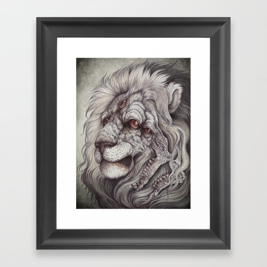 the Nemean Lion Framed Art Print
