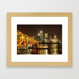 London, Piers of Docklands Hilton Framed Art Print