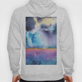 Watercolor landscape sky clouds Hoody