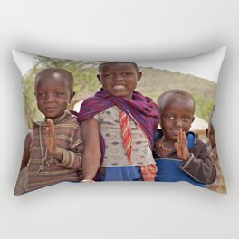 Maasai Children Rectangular Pillow