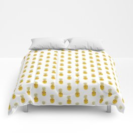 Funny Pineapple Face Comforters