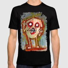 Jake the Zombie dog X-LARGE Black Mens Fitted Tee