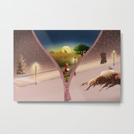 The winter coat Metal Print