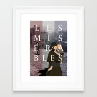 les miserables Framed Art Prints featuring Les Miserables by Aaron Johnson Design