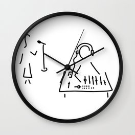 sound engineer studio admission mixing writing desk Wall Clock