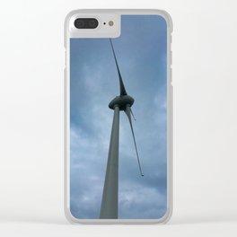 Brooklyn Wind Turbine Clear iPhone Case