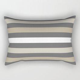 Neutral colors lines Rectangular Pillow