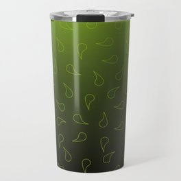 neon green drops overflow texture backgrond Travel Mug