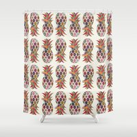 kilim Shower Curtains featuring Tropicana by withnopants