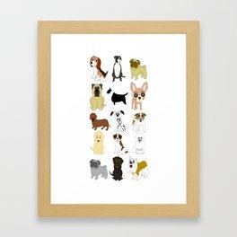 Pet dogs design Framed Art Print