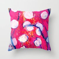 polka dot Throw Pillows featuring Polka Dot by Liz Haywood