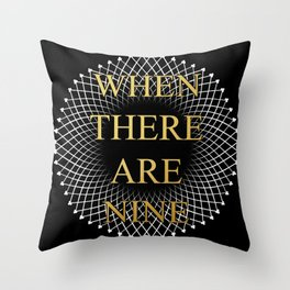 Ruth Bader Ginsburg 9 Throw Pillow