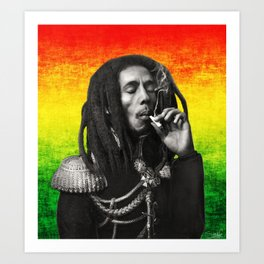 marley bob general portrait painting | Up In Smoke Fan Art Art Print