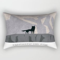 Minimalist Fantastic Mr. Fox Rectangular Pillow
