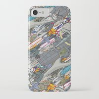 battlestar galactica iPhone & iPod Cases featuring Battlestar by Guy Warley