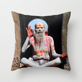 Old Hindu Throw Pillow