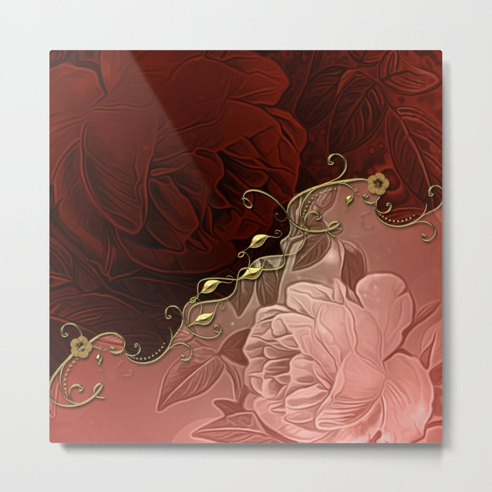 Beautiful floral design Metal Print