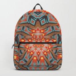 Energy Light | Orange & Teal geometry Backpack
