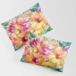 Tropical Hibiscus Garden Pillow Sham