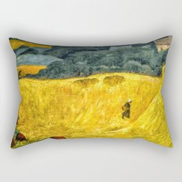 Fields of Gold, Tuscany, Italy landscape by Paul Serusier Rectangular Pillow