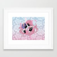 utena Framed Art Prints featuring Utena la filette revolutionnaire by Neo Crystal Tokyo