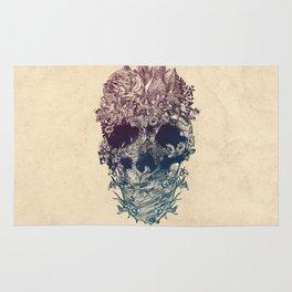 Skull Floral Rug
