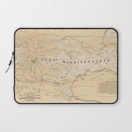 Vintage Map of Lake Winnipesaukee (1896) Laptop Sleeve