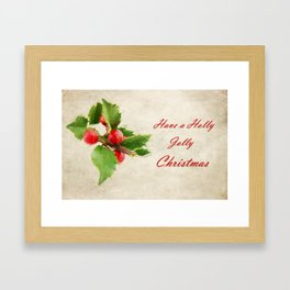 A Holly Jolly Christmas Framed Art Print