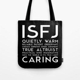 ISFJ (black version) Tote Bag